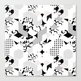 In between the lines and dots Canvas Print