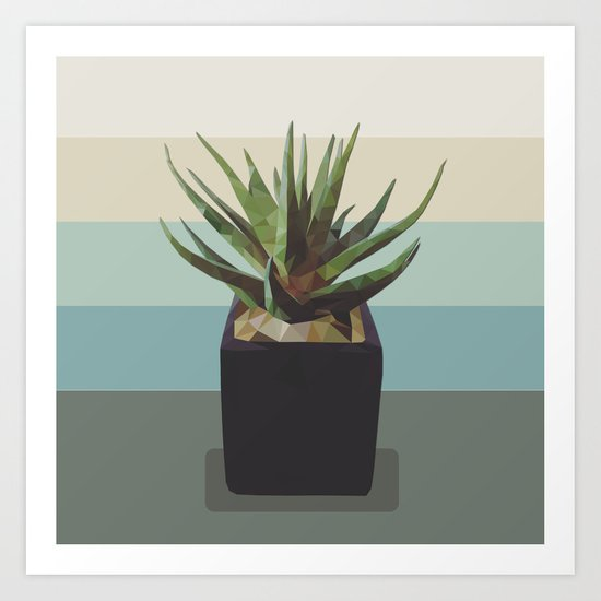 polygon plant Art Print
