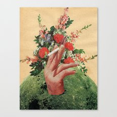 Smoking Flowers Canvas Print