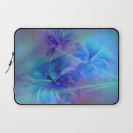 Soft  Colored Floral Lights Beams Abstract Laptop Sleeve