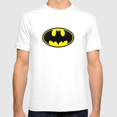 The Bat Man SMALL Mens Fitted Tee White