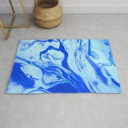 Blue Liquid Marble Rug