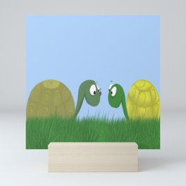 Ellie and Ollie, and Their New Friend Mini Art Print