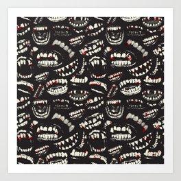 Monster Mouths Art Print