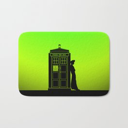 Tardis With The Tenth Doctor Bath Mat