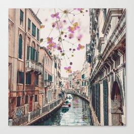 Venice Floral Sky Canvas Print