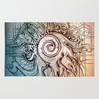 seashell Area & Throw Rugs featuring Seashell by Irina Vinnik