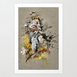 Peaceful Sage Art Print