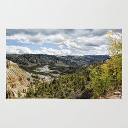 Overlooking Yellowstone River on an Autumn Day Rug