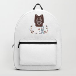 Awesome Wolf Astronaut Outer Space Nerdy Rocket Science Backpack