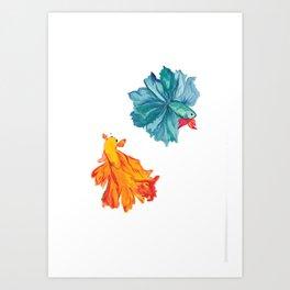 Siamese Fighter/Lover Fish Art Print