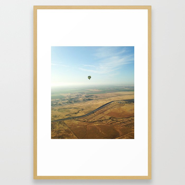 Napa Valley From Above Framed Art Print