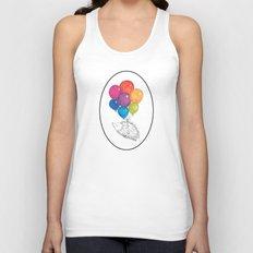 Soar - Rainbow Balloon Hedgehog Unisex Tank Top