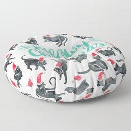 Meowy Christmas – Mint Type Floor Pillow