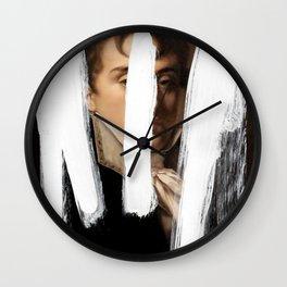 Brutalized Portrait of a Gentleman 2 Wall Clock
