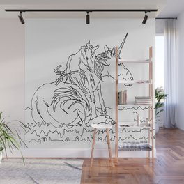Mare and Foal Mythos Wall Mural