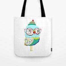 Bobble Hat Owl. Tote Bag