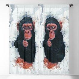 Chimpanzee Art Blackout Curtain