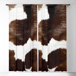 Brown Cowhide Blackout Curtain
