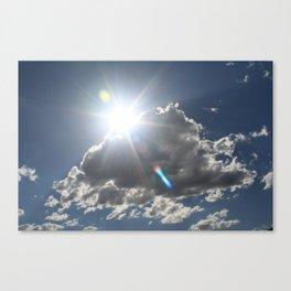 Flare through Clouds Canvas Print