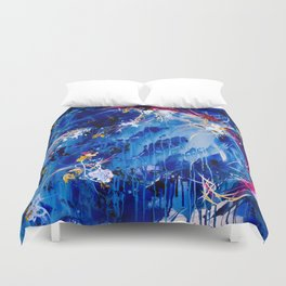 As The Universe Falls Together Duvet Cover