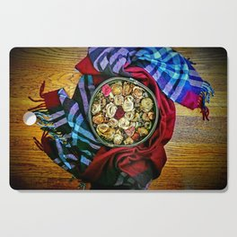Roses and Wood Cutting Board