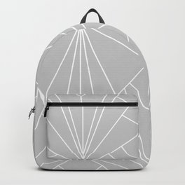 Art Deco on Grey - Large Scale Backpack