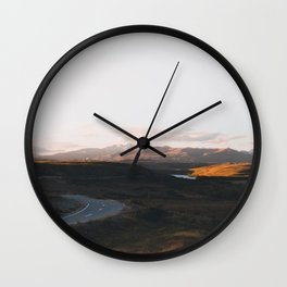 Tekapo Sunset Wall Clock
