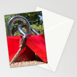 Giant Red Padlocks Stationery Cards