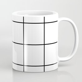 black grid on white background Coffee Mug