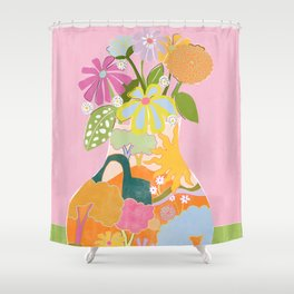 Colourful Garden Shower Curtain
