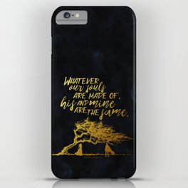 Wuthering Heights - Souls - Gold Foil iPhone Case