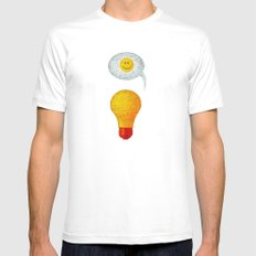 Happy Ideas!  White MEDIUM Mens Fitted Tee