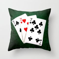 Blackjack Twenty One Throw Pillow