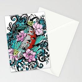 Colored Carpa Koi Stationery Cards