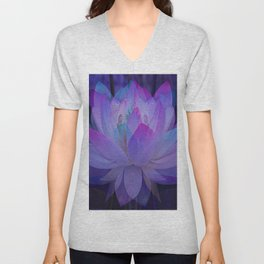 Lotus in Blue... Unisex V-Neck