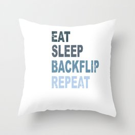 Eat Sleep Backflip Parkour Freerun Sport Gift Throw Pillow