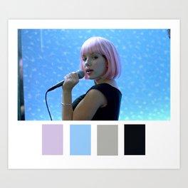 Scarlett Johansson Tokyo Karaoke Art Print