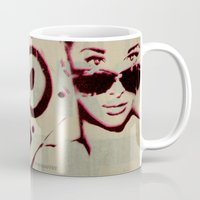 givenchy Mugs featuring BOOMBOX at TIFFANY'S 2 by Mr Mahaffey