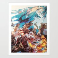 final fantasy Art Prints featuring Final Fantasy by Tamika