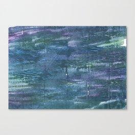 Metallic blue abstract watercolor Canvas Print