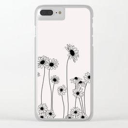 Daisy flowers illustration - Natural Clear iPhone Case