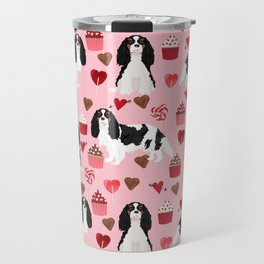 Cavalier King Charles Spaniel tricolored valentines day cupcakes dog breed spaniels pet gifts Travel Mug