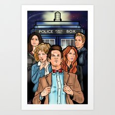 My Doctor and His Posse Art Print