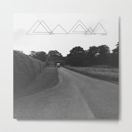 Uneven Sky Over an English Roadway Metal Print