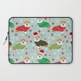 Corgi sweater christmas ugly sweaters dog breed welsh corgis holiday Laptop Sleeve