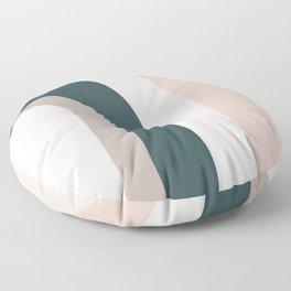 Rainbow arches - pastel palette Floor Pillow