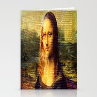 da vinci Stationery Cards featuring The Da Vinci Code by  Agostino Lo Coco