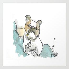 Chloe - The Dog Series Art Print