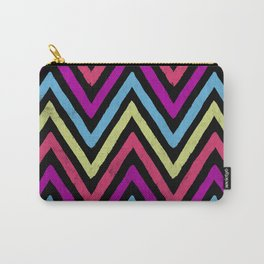Native Neon Stripes Carry-All Pouch
